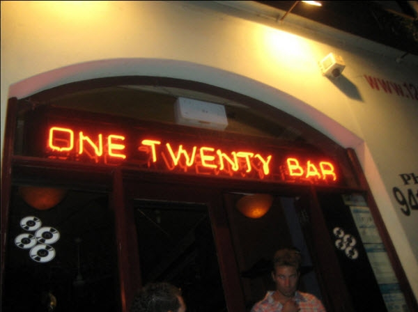 One Twenty Bar, Fitzroy, Melbourne