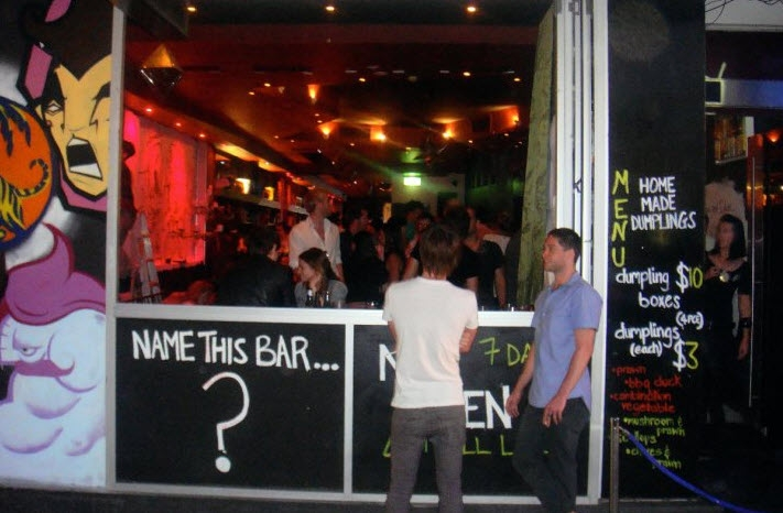 Name This Bar, Oxford Street, Sydney