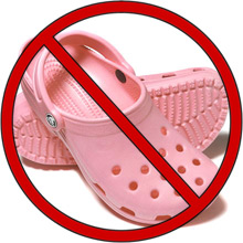 pink crocs no These Boots Were Made For Dancing